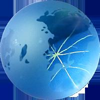 blue globus